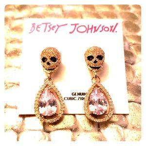 Betsey Johnson Skull Teardrop Earrings